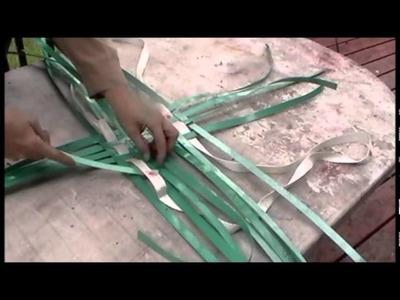 Nancy Today: How to make a beach tote basket 1 ASMR weaving basketmaking (basket making tutorial)