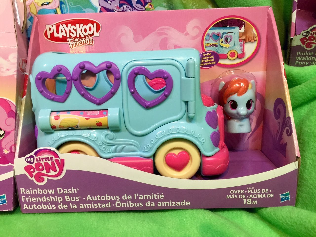 New Rainbow Dash Friendship Bus My Little Pony Playskool MLP Toy