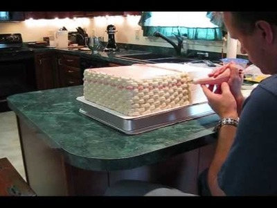 Piping a Basket Weave