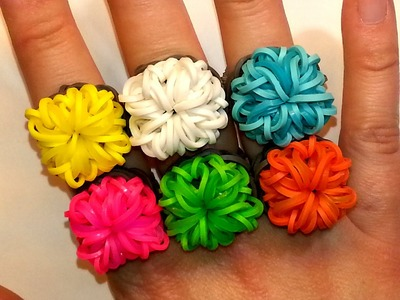 Square Bling Ring Tutorial by feelinspiffy (Rainbow Loom)