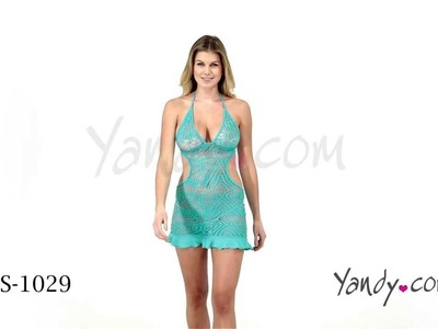 Turquoise Crochet Mini Dress ES 1029 1