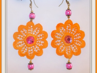 TUTORIAL:Macramè Lace : Such as starch and coloring the lace and realize earrings