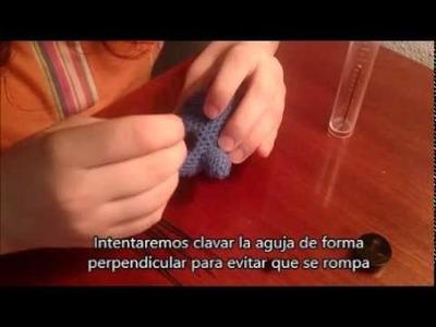 [Tutorial] Needle felting en amigurumi o crochet (english subs)