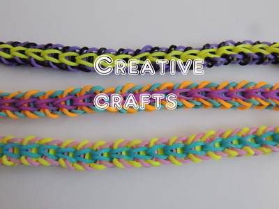 Tutorial pulsera de gomitas Tribal Fishtail SIN TELAR. Rainbow Loom Bracelet Tribal Fishtail.