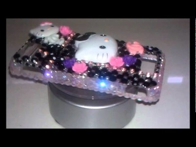 $35 Hello Kitty Blinged Out Motorola Droid X Cellphone Case.