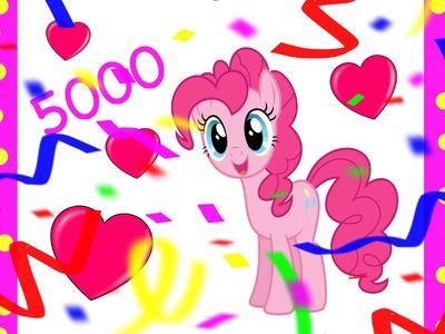 5000 Subscriber Giveaway Plus Pinkie Pie DIY Color Page DohVinci Play Doh Orbeez