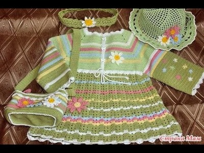Crochet baby dress| How to crochet an easy shell stitch baby. girl's dress for beginners 217