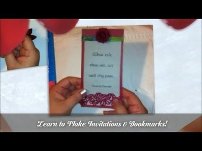 DAY 1 HOW TO MAKE INVITATIONS OR BOOKMARK