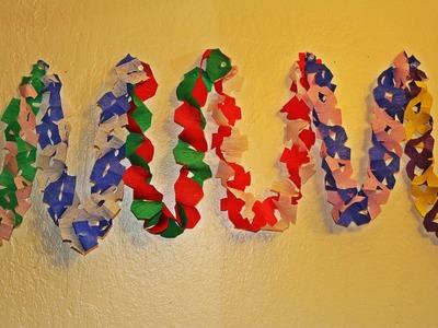 DIY Crepe Paper Streamer Decorations !!!