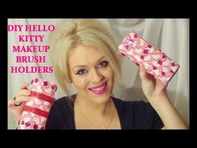 DIY: HELLO KITTY MAKEUP BRUSH HOLDERS