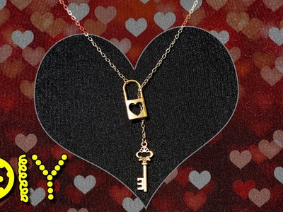 DIY Lock & Key Charm Necklace || Lucykiins