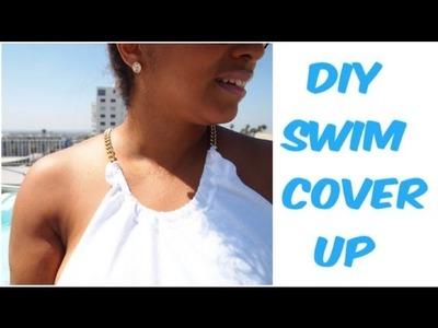 DIY: Transform A Plain White Tee Into A Stylish Swim Cover-Up