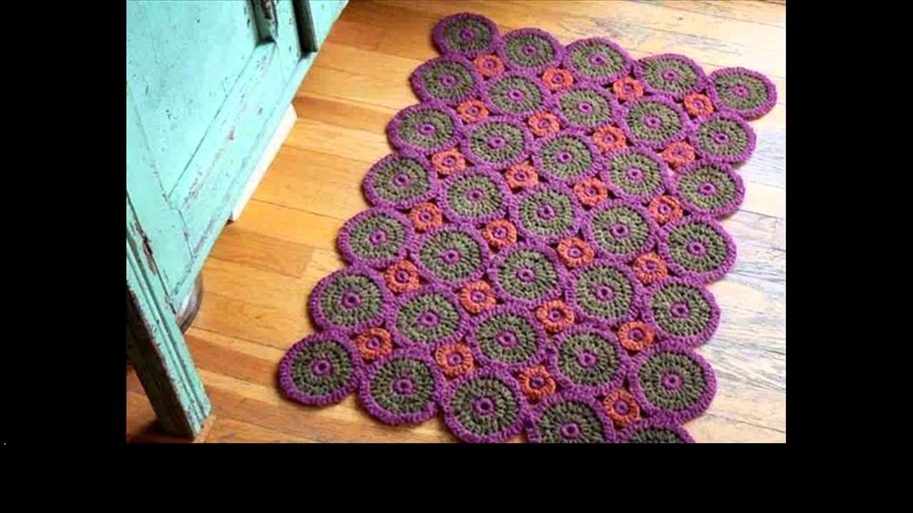 Easy crochet rug tutorial