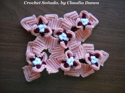FLOWER PRINT CROCHET: ORCHIDS. ORQUÍDEAS