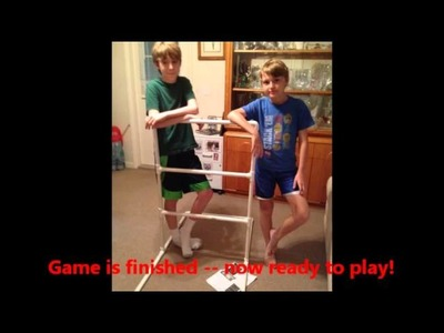 GREAT FAMILY DIY PROJECT - How to make a Ladder Golf Ball Game! (6.30.14)