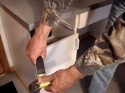 Habitat  - Deconstruction - remove cabinets; counter tops
