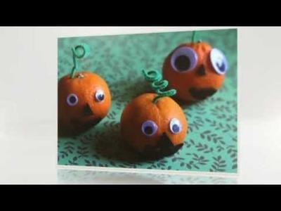 Healthy Halloween Treat: Tangerine Jack-o'-Lantern tutorial