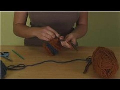 How to Crochet a Scarf : Adding Crochet Scarf Tassels
