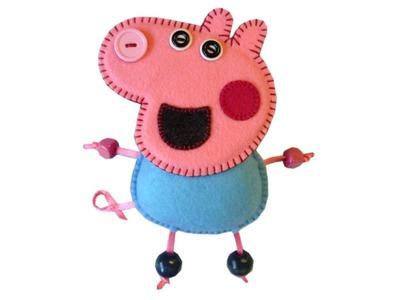 How to make peppa pig's brother George in felt (luggage tag) with Lisa Pay