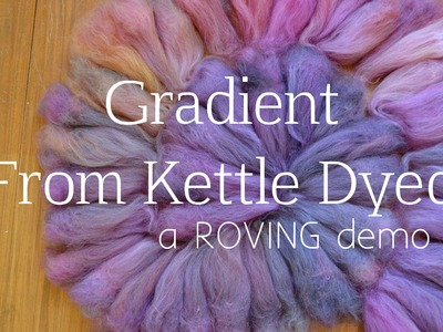 How to Spin a Gradient Yarn from a Non-Gradient Roving