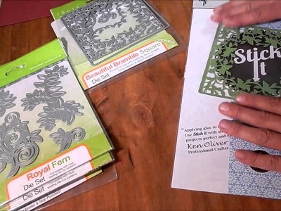 How to Use Stick It with Card Stock for Die Cutting
