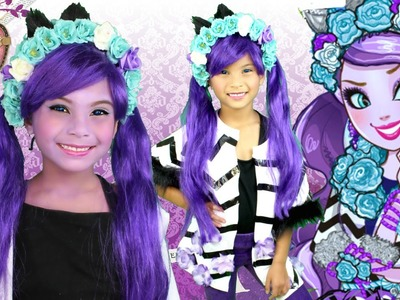 KITTY CHESHIRE (Ever After High) Makeup Tutorial and DIY Costume Tutorial
