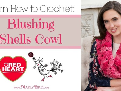 Learn How to Crochet the Blushing Shells Cowl in Red Heart Boutique Infinity Yarn