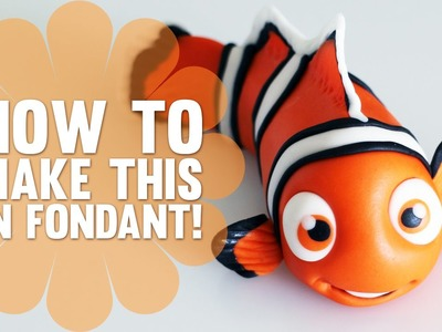 Learn how to make Nemo from Finding Nemo - Fondant Cake Decorating Tutorial