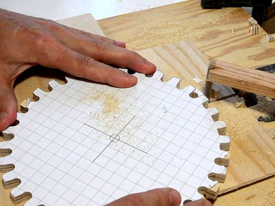 Making gears with a jigsaw