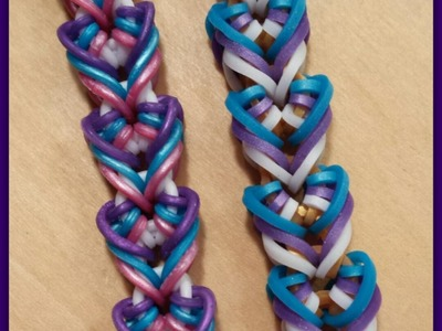 """New  """"Thorax"""" Hook Only Rainbow Loom Bracelet.How To Tutorial"""