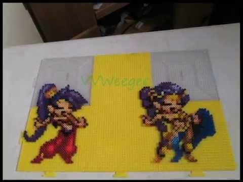 Perler Time lapse Shantae
