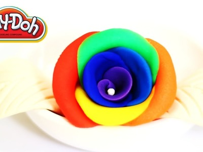 Play-Doh Rainbow Rose