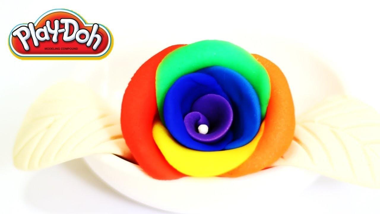 Play-Doh Rainbow Rose