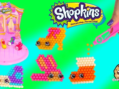 Shopkins Season 2 + 3 Fashion Cuties Beados Shoes Craft Playset Unboxing - Cookieswirlc Video