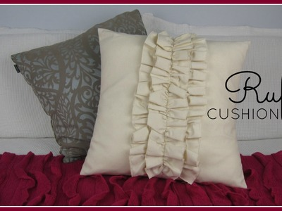 {Step-by-Step Sewing} DIY Ruffle Cushion Cover