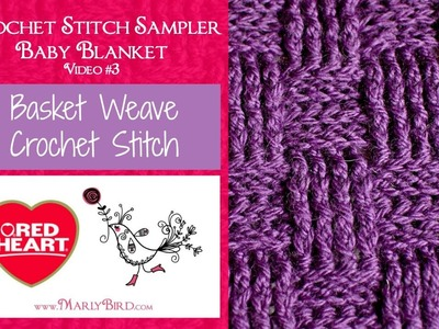 Basket Weave (Crochet Stitch Sampler Baby Blanket Video #3)