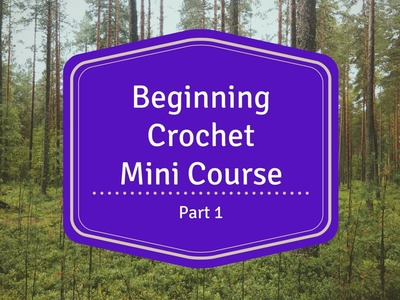 Beginning Crochet Mini Course - Part 1 - Holding the Yarn and Hook