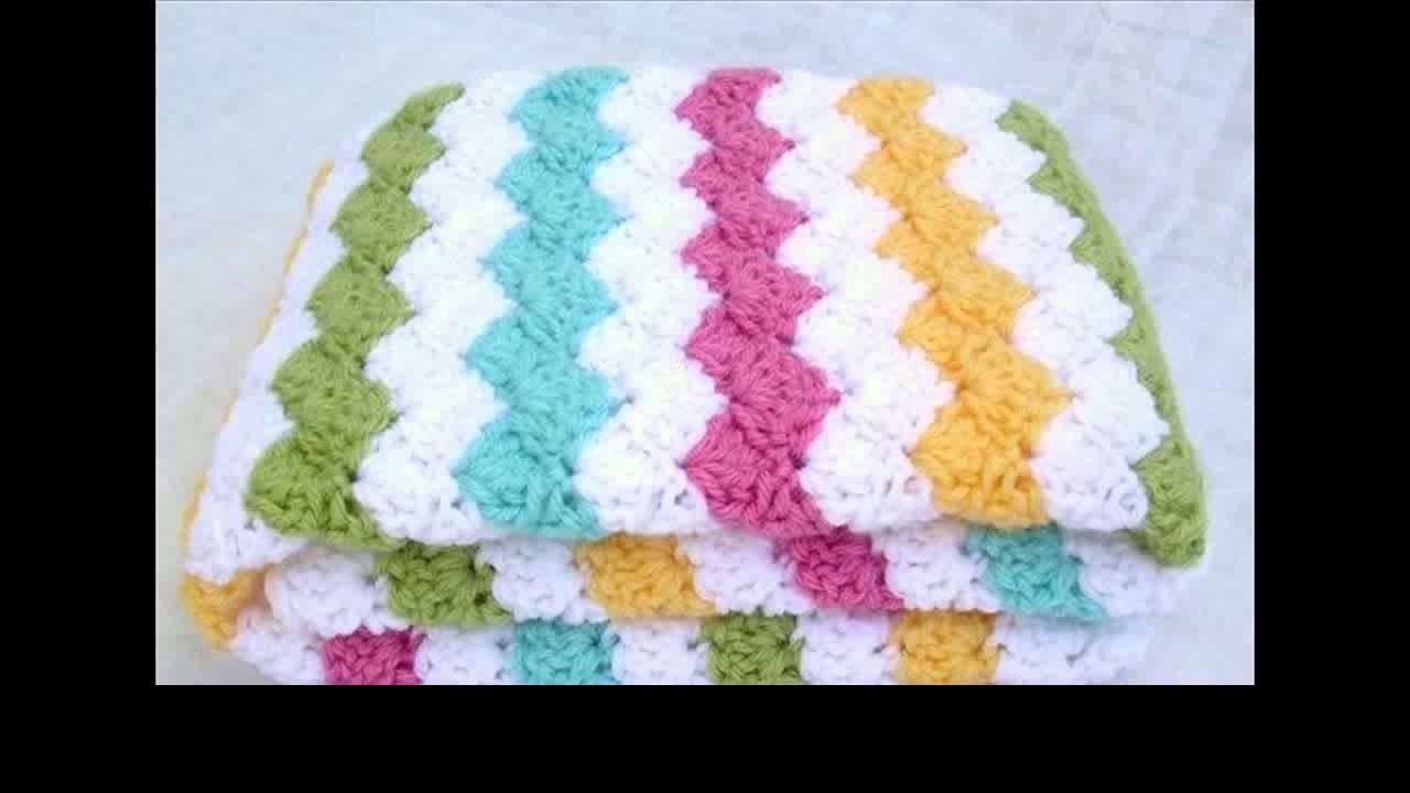 Crochet baby blanket squares