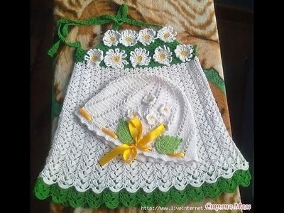 Crochet baby dress| How to crochet an easy shell stitch baby. girl's dress for beginners 208