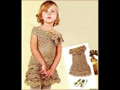 Crochet baby dress| How to crochet an easy shell stitch baby. girl's dress for beginners 142