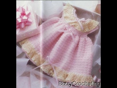 Crochet baby dress| How to crochet an easy shell stitch baby. girl's dress for beginners 232