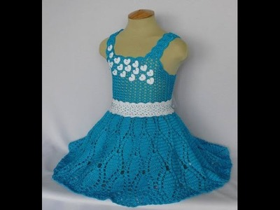 Crochet baby dress| How to crochet an easy shell stitch baby. girl's dress for beginners 120