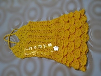 Crochet baby dress  How to crochet an easy shell stitch baby. girl's dress for beginners 224