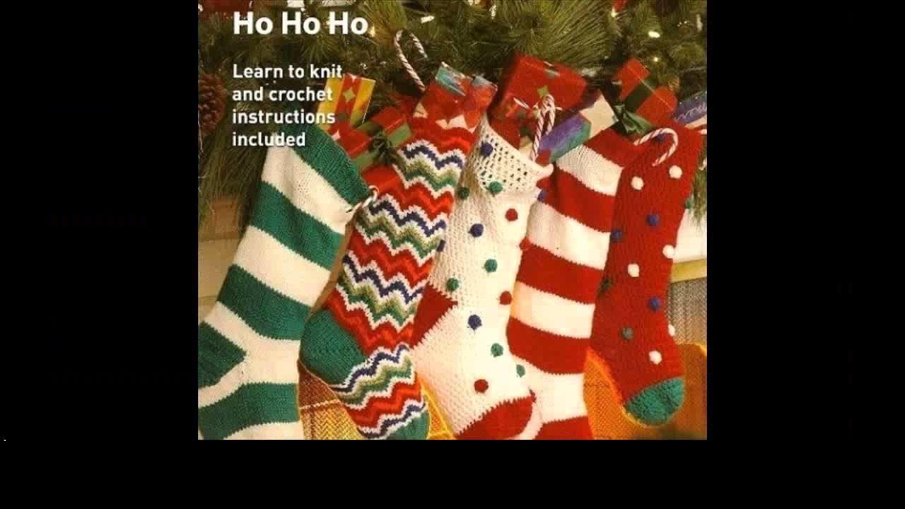Crochet christmas stocking free patterns