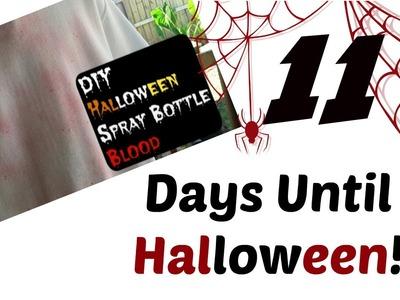 DIY Halloween - Spray Bottle Blood