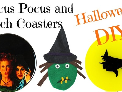 DIY Hocus Pocus and Witch Coasters ~ Another Coaster Friday