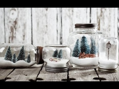 DIY Mason Jar Winter Terrarium