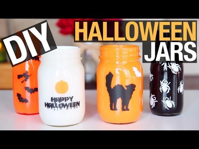 DIY Painted Halloween Jars