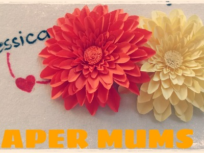 DIY Paper Mums (Chrysanthemum) Tutorial