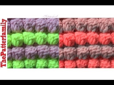 How to Crochet a Two Color Bobble Stitch│by ThePatterfamily
